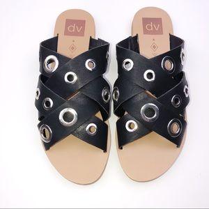 DV Dolce Vita Black Leather Sandals Sz 8.5